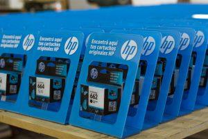 Exhibidores de mostrador HP cartuchos