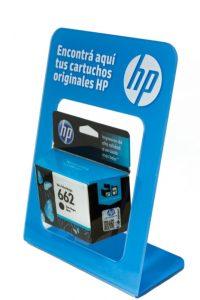 Exhibidor HP de mostrador para cartuchos