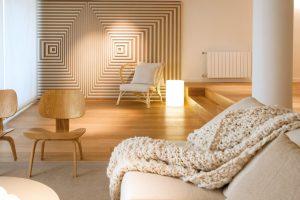 departamento palermo diseño de interiores routeado geometrico