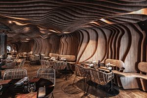Restaurant Fabric Sushi Puerto Madero Revestimiento parametrico 30 diseño estratégico